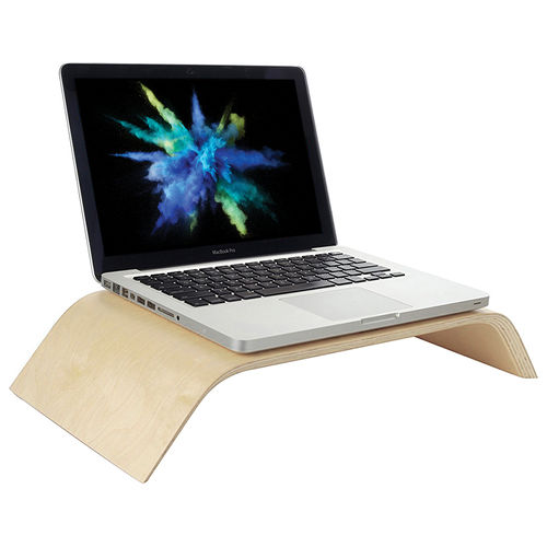 Wooden Desk Stand Riser for Monitor / iMac / MacBook / Laptop - White