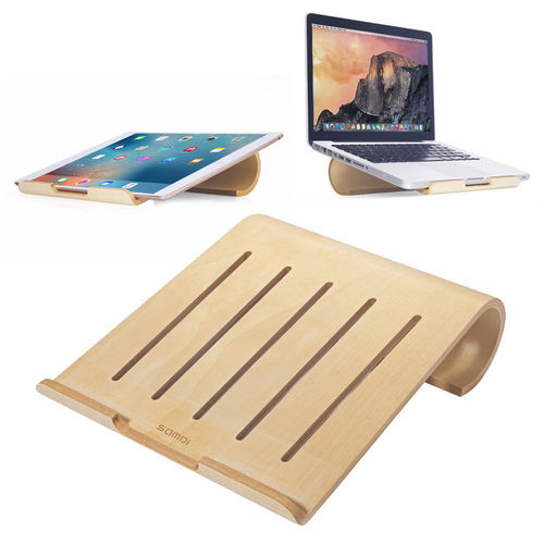 Samdi Small Wooden Desktop Holder Stand for MacBook / iPad Pro - Birch