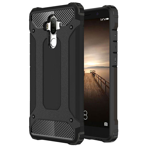 Military Defender Tough Shockproof Case for Huawei Mate 9 - Black