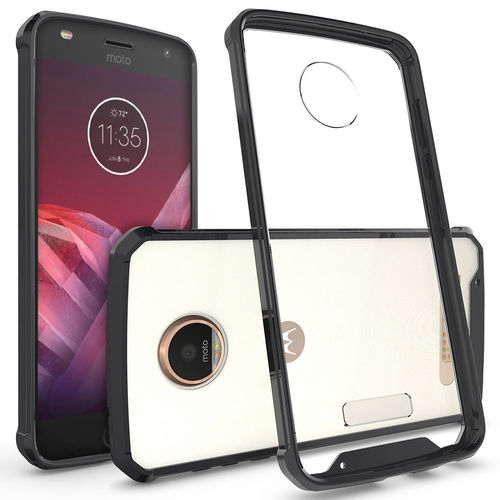 Hybrid Fusion Bumper Case for Motorola Moto Z2 Play - Black Frame