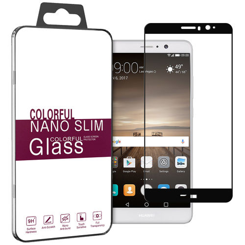 Full Coverage Tempered Glass Screen Protector for Huawei Mate 9 - Black