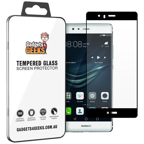 Full Coverage Tempered Glass Screen Protector for Huawei P9 - Black