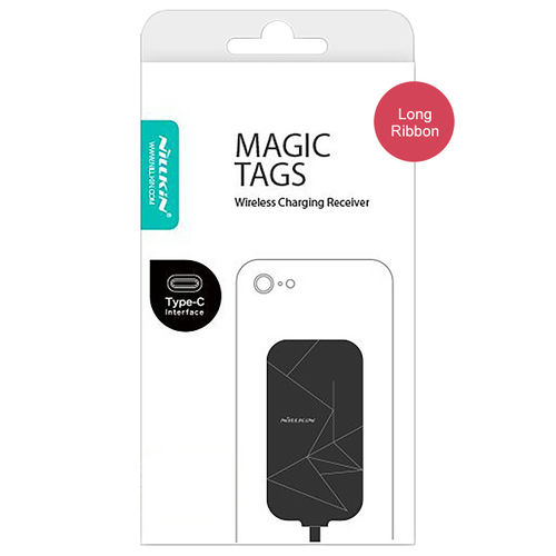 Nillkin Magic Tag Type-C Qi Wireless Charging Receiver Card (Long Ribbon)