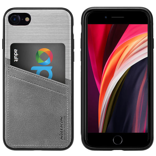 Nillkin Classy Card Slot Leather Case for Apple iPhone 8 / 7 / SE (2nd Gen) - Silver