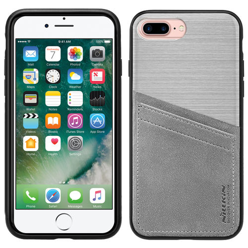 Nillkin Classy Card Holder Leather Case for Apple iPhone 8 Plus / 7 Plus - Silver
