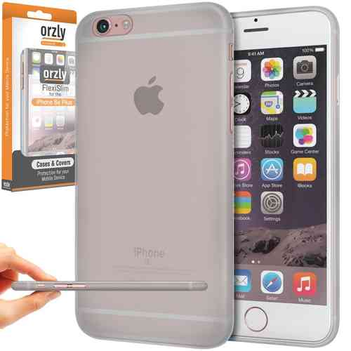 Orzly Flexi Slim Case for Apple iPhone 6 Plus / 6s Plus - Smoke White