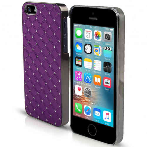 Orzly Diamond Sparkle Case for Apple iPhone 5 / 5s / SE (1st Gen) - Purple