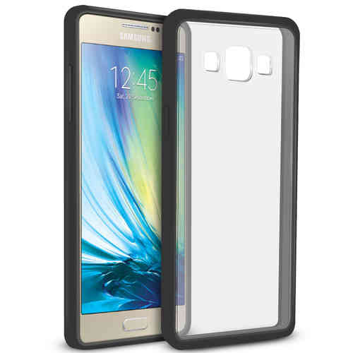 Orzly Fusion Bumper Case for Samsung Galaxy A5 (2015) - Black / Clear