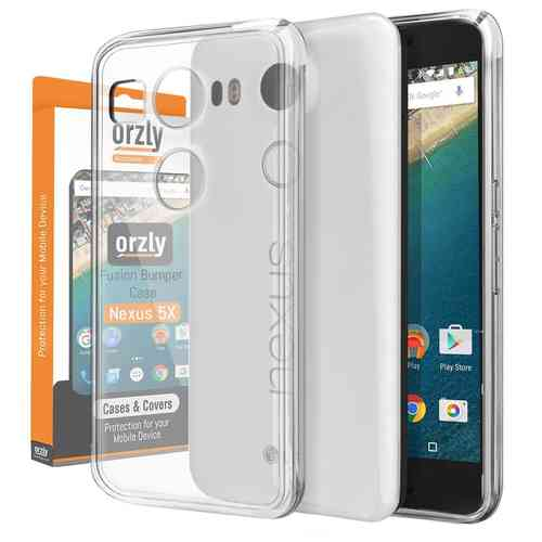 Orzly Fusion Frame Bumper Case for Google Nexus 5X - Clear