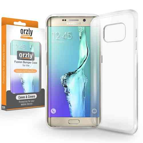 Orzly Fusion Frame Bumper Case for Samsung Galaxy S6 Edge+ (Clear)