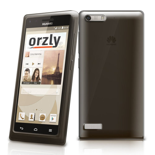 Orzly Flexi Case for Huawei Ascend G6 - Smoke Black (Gloss)