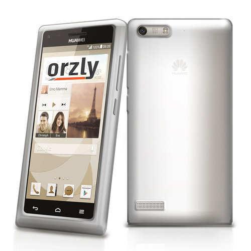 Orzly Flexi Case for Huawei Ascend G6 - Smoke White (Gloss)