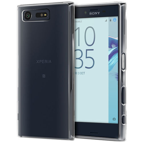Orzly Flexi Gel Case for Sony Xperia X Compact - Clear / Gloss Grip