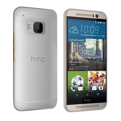 Orzly Flexi Slim Case for HTC One M9 - Smoke White (Matte)