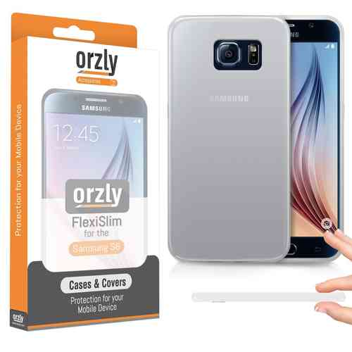 Orzly Flexi Slim Case for Samsung Galaxy S6 - Smoke White (Razor-thin)