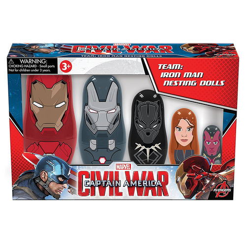 PPW Toys Marvel Team Iron Man Civil War Nesting Dolls (5-Cup Set)
