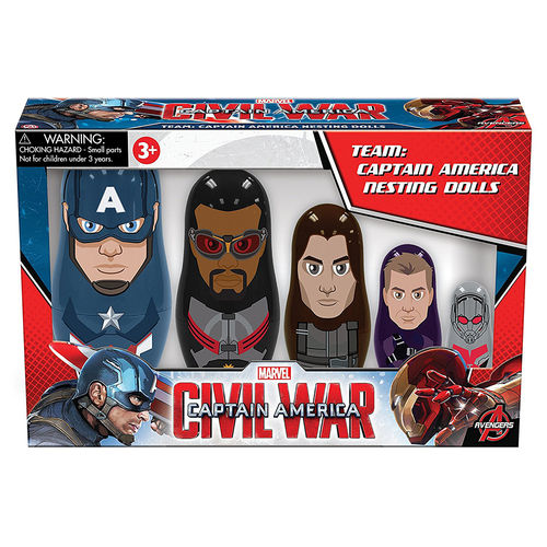 PPW Toys Marvel Captain America Civil War Nesting Dolls (5-Cup Set)