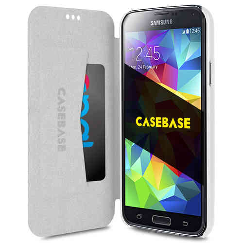 CaseBase Slim Wallet Case (Card Holder) for Samsung Galaxy S5 - White