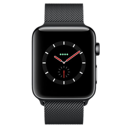 Black Milanese Loop Stainless Steel Band for Apple Watch 38 / 40mm