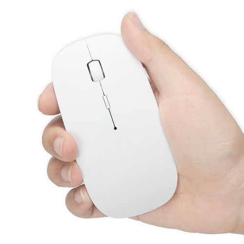 2.4GHz RF DPI Blue Optical Laser Wireless Mouse (USB Receiver) - White