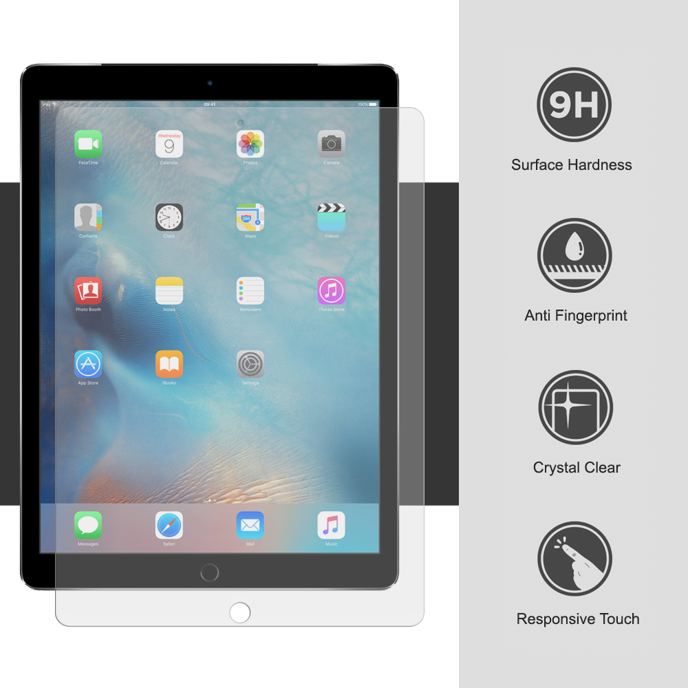 For iPad 6th Generation 9.7 2018 Clear Premium Tempered Glass Screen Protector