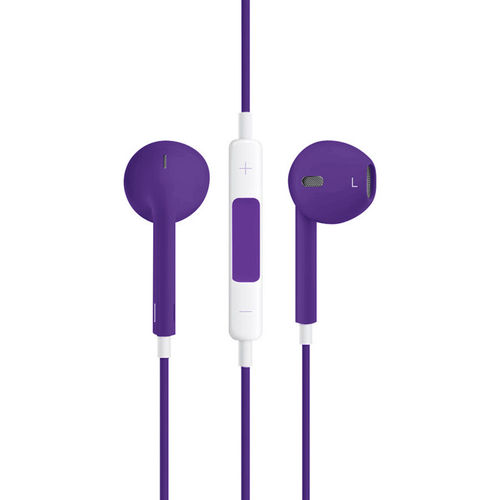 Stereo EarPods with Remote & Microphone (Headphones) - Purple