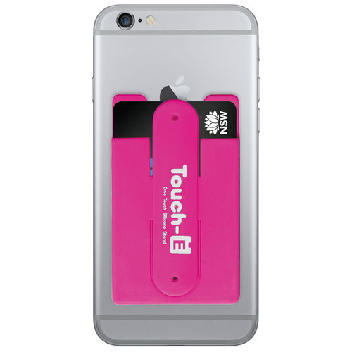 Opal Card Transport Ticket Pouch Holder & Mobile Phone Stand - Magenta