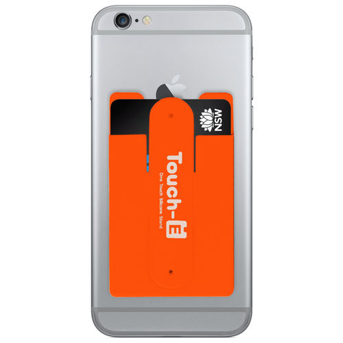 Opal Card Transport Ticket Pouch Holder & Mobile Phone Stand - Orange