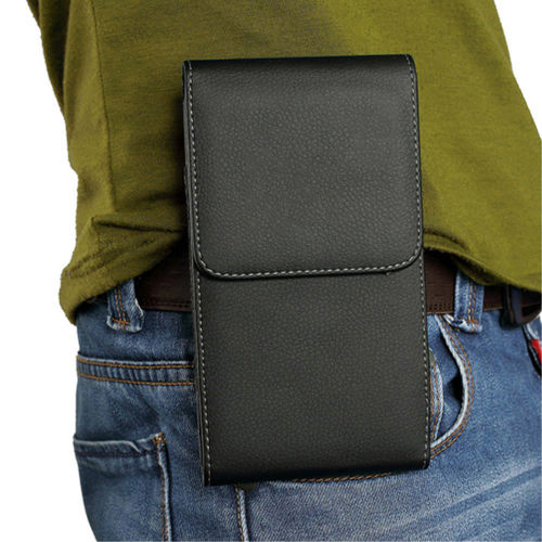 Executive (Small) Vertical Leather Pouch / Belt Clip Case for Mobile Phone