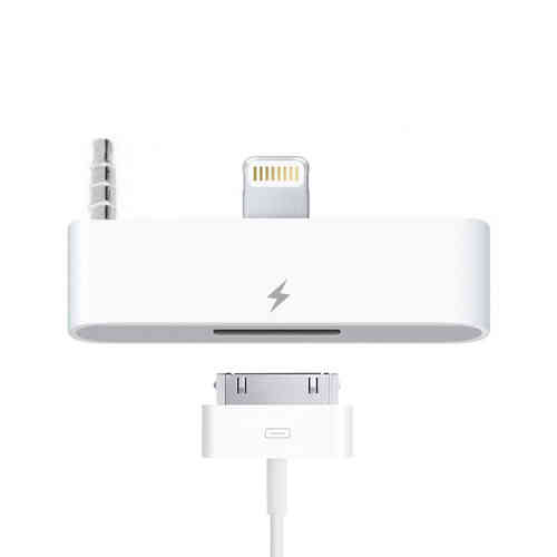 Lightning to 30-pin Audio Adapter & 3.5mm Jack for iPhone 6 / 6s - White