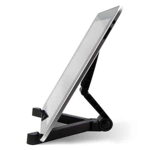 Compact Foldout Desk Stand & Display Holder for iPad / Tablet - Black