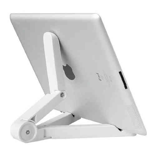 Compact Foldout Desk Stand & Display Holder for iPad / Tablet - White