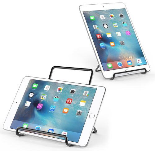Large Metal Frame Adjustable Multi-Angle Desktop Stand for iPad / Tablet