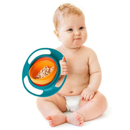 Spill-Proof Baby & Toddler Friendly Rotary Gyro Buddy Bowl