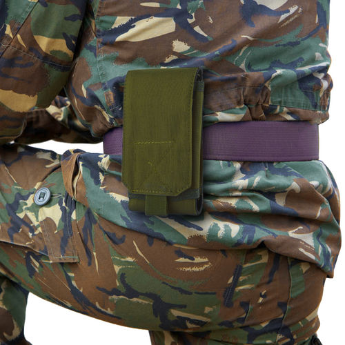 Nylon XL Military Outdoor Case & Belt Loop Phone Pouch Holder - Khaki