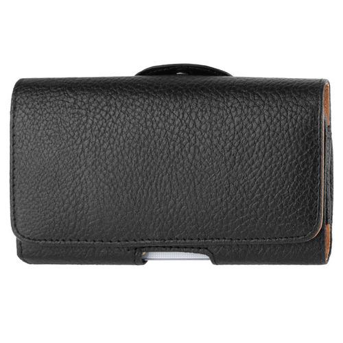 Executive Large Horizontal Leather Pouch & Belt Clip Case for Mobile Phone