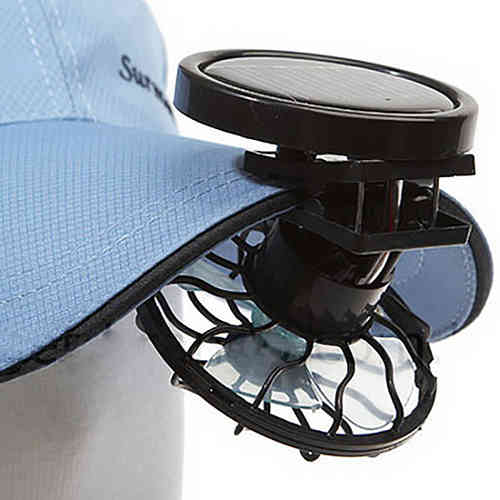 Mini Clip-On Solar Power Cooling Travel Fan