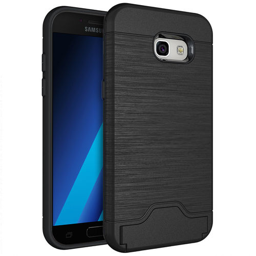 Dual Armour Tough Card Slot Case & Stand for Samsung Galaxy A5 (2017) - Black