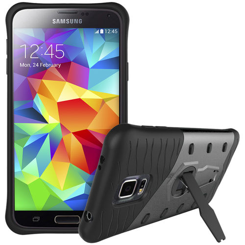 Slim Shield Tough Shockproof Case for Samsung Galaxy S5 - Grey