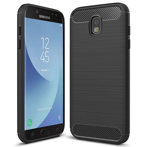 Flexi Slim Carbon Fibre Case for Samsung Galaxy J5 Pro - Brushed Black
