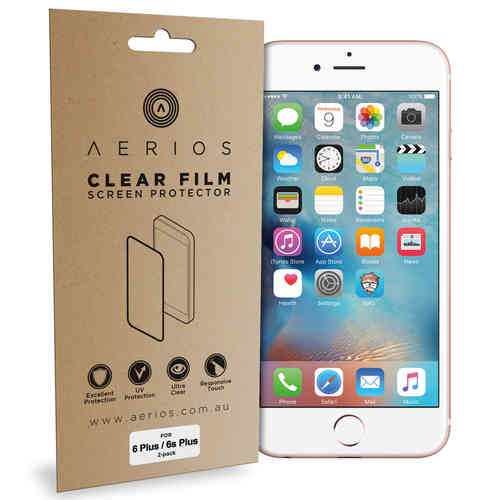 Aerios (4-Pack) Clear Film Screen Protector for Apple iPhone 6s Plus