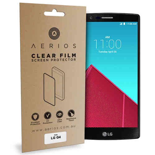 Aerios (2-Pack) Clear Film Screen Protector for LG G4