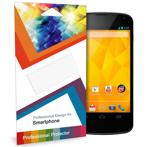 (2-Pack) Clear Film Screen Protector for Google Nexus 4
