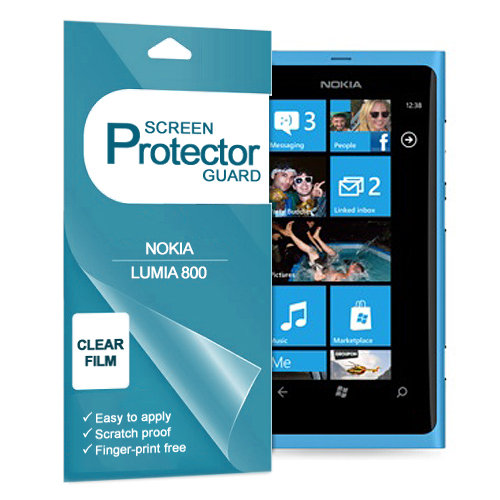 (2-Pack) Clear Film Screen Protector for Nokia Lumia 800