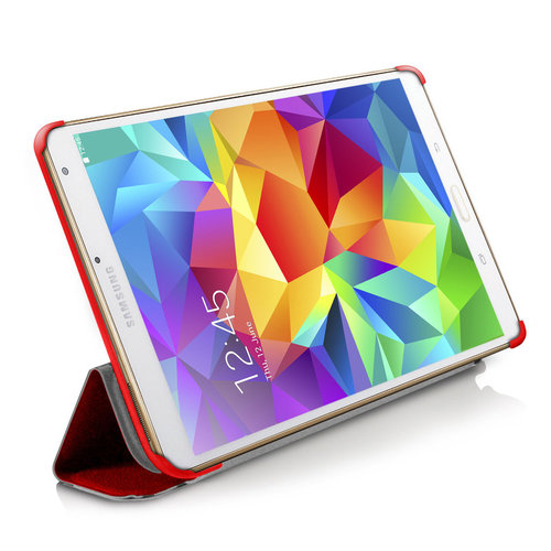 Orzly Slim-Rim Smart Case for Samsung Galaxy Tab S 8.4 - Red