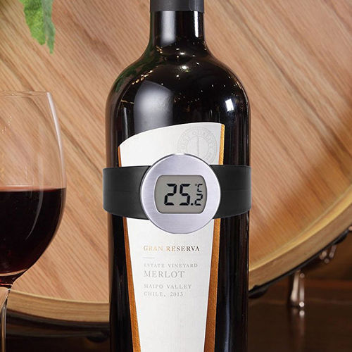 Digital LCD Wine Bottle Thermometer Bracelet & Temperature Reader