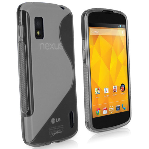 S-Line Flexi Case for Google Nexus 4 - Frosted Clear (Two-Tone)