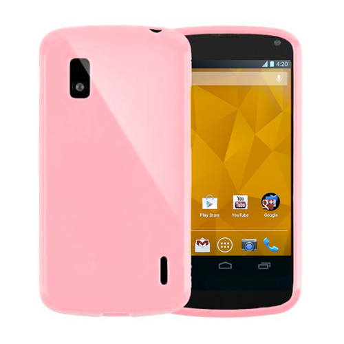 Flexi Candy Crush Case for LG Google Nexus 4 - Pink (Matte)