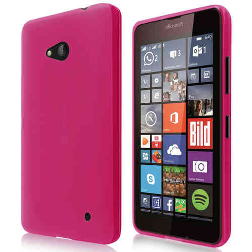 Flexi Gel Case for Microsoft Lumia 640 - Smoke Pink (Two-Tone)