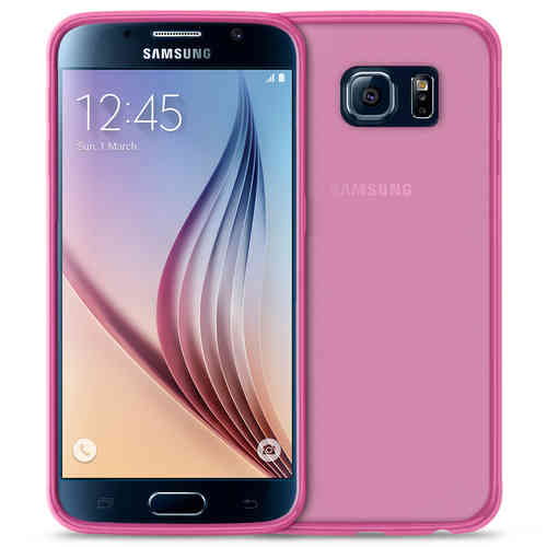 Flexi Gel Case for Samsung Galaxy S6 - Smoke Pink (Two-Tone)